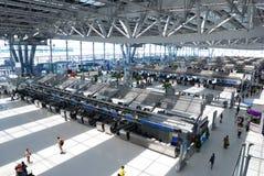 Enregistrement d'aéroport Photo libre de droits
