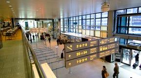 Enregistrement dans l'aéroport de Cracovie Images libres de droits