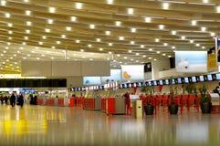 Enregistrement dans l'aéroport de Wiena Image libre de droits