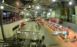 Enregistrement dans l'aiport Ferihegy de Budapest Photos stock