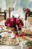 Enregistrement de décor de mariage des tables Photo stock