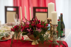 Enregistrement de décor de mariage des tables Photos libres de droits