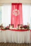 Enregistrement de décor de mariage des tables Photos stock