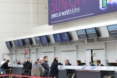 Enregistrement de Glasgow Airport Photos libres de droits