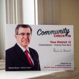 Enregistrement de la Communauté de Richard Brown, PEI Liberal Party pour l'élection provinciale 2019 image stock
