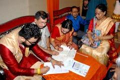 Enregistrement de mariage photos libres de droits