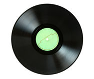 Enregistrement de phonographe photos stock