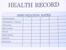 Enregistrement de santé Photos libres de droits