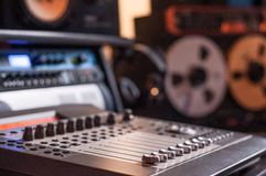 Enregistrement de studio images stock