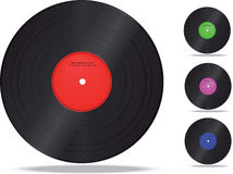 Enregistrement de vinyle. Photo stock