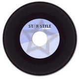 enregistrement de vinyle 45rpm avec l'étiquette fausse photos stock