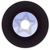 enregistrement de vinyle 45rpm avec l'étiquette fausse Photo libre de droits