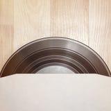 Enregistrement de vinyle avec le cache images libres de droits