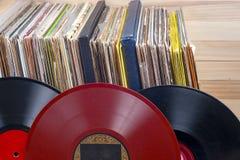 Enregistrement de vinyle Copiez l'espace pour le texte images stock