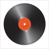 Enregistrement de vinyle d'isolement. Photos stock