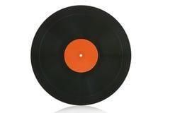 Enregistrement de vinyle d'isolement sur le blanc photographie stock