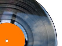 Enregistrement de vinyle orange Image libre de droits