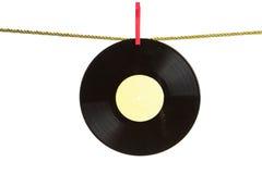 Enregistrement de vinyle sur la corde d'or photo libre de droits
