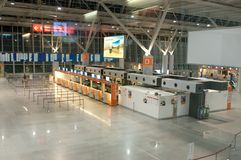 Enregistrement en aéroport de Frederic Chopin Photos stock