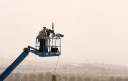 Enregistrement et radiodiffusion F sous tension les 1er,20 avril 2012 image libre de droits