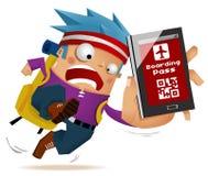 Enregistrement mobile illustration libre de droits
