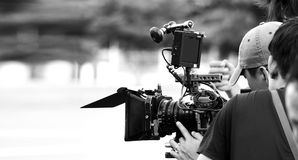 Enregistrement numérique de caméra vidéo de définition élevée photos stock