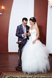 Enregistrement solennel de mariage Photographie stock libre de droits