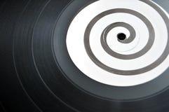 Enregistrement spiralé de musique de LP de vinyle photo stock