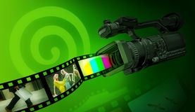 Enregistrement vidéo de Dreamstime Photos libres de droits