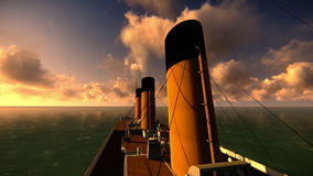Enregistrement vidéo titanique de vue banque de vidéos