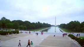 Enregistrement vidéo courant Lincoln Memorial clips vidéos