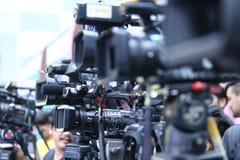 Enregistrement vivant de DSLR de réseau social visuel d'appareil-photo Photo libre de droits