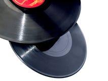 Enregistrements de vinyle d'isolement Photo stock