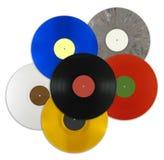 Enregistrements de vinyle de couleur photographie stock