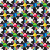 Enregistrements de vinyle sans joint configuration ou fond Image libre de droits