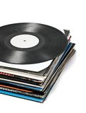 Enregistrements de vinyle utilisés image stock