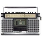 Enregistreur à cassettes étonnant de ghettoblaster de vintage Photos stock
