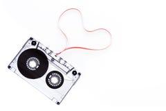 Enregistreur à cassettes avec la bande de forme de coeur Photo libre de droits