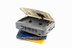Enregistreur à cassettes avec le baladeur Photo stock