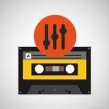 Enregistreur à cassettes de musique de fréquence Photos libres de droits