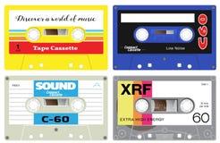 Enregistreur à cassettes en plastique illustration stock