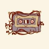 Enregistreur à cassettes mignon Photos libres de droits