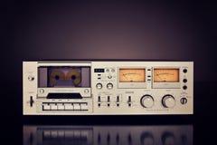 Enregistreur stéréo de plate-forme d'enregistreur à cassettes de vintage Photographie stock libre de droits