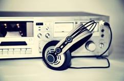 Enregistreur stéréo de platine du dérouleur de cassette de vintage Photos libres de droits