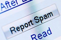Enregistrez le Spam Images stock