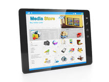 Enregistrez les applications de medias Image libre de droits