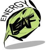 Enregy liścia logo Zdjęcia Stock
