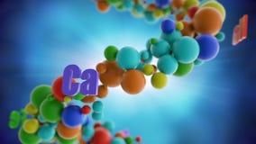 Enrejado colorido de las vitaminas y de los suplementos libre illustration