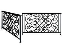 Enrejado modelado para la representación del balcón 3D stock de ilustración
