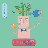 Enrich brain ,enrich life Royalty Free Stock Photo